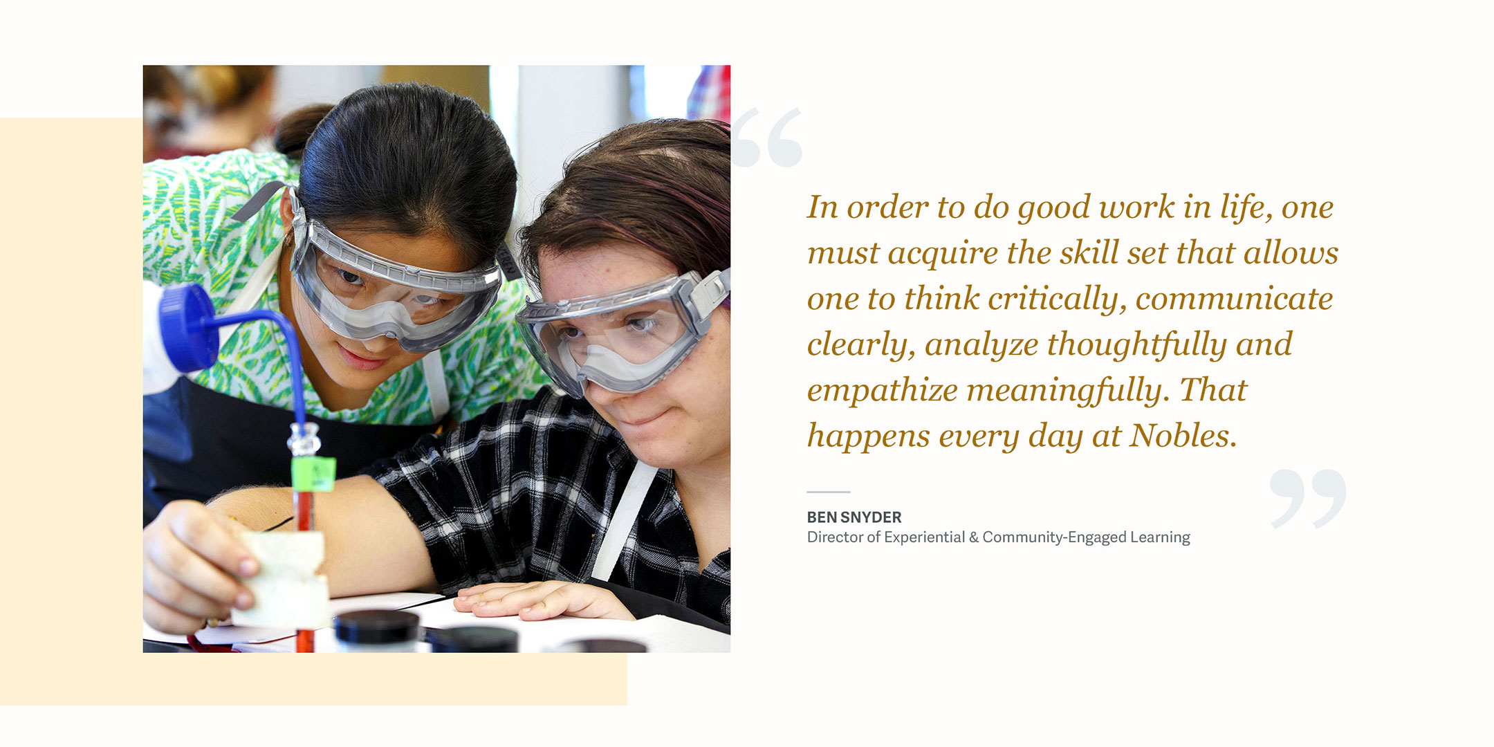 Noble and Greenough School Website Quote