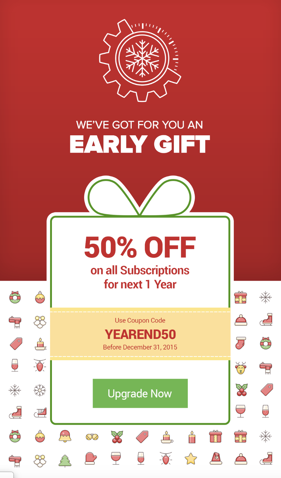 example of a holiday offer email